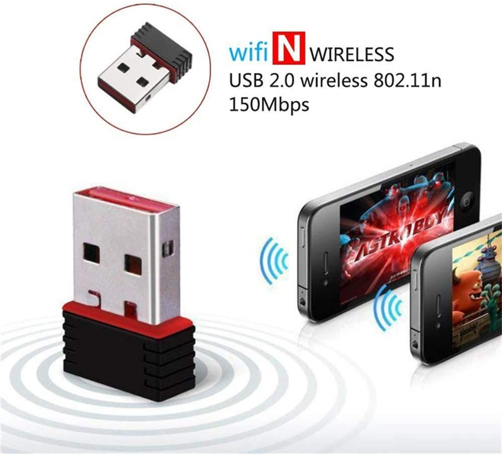 Supports Win XP//WIN7//8//10//Linux//Mac OS X USB WiFi Dongle Adapter 150Mbps Dual Band 2.4G Wireless Mini WiFi Receiver WLAN Network Dongle Compatible with Laptop//Desktop//PC eaaerr WLAN Adapter