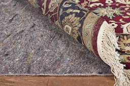 Gray Recycled Fiber Premium Reversible Felted Pad for a 2.5\' x 10\' Rug Runner