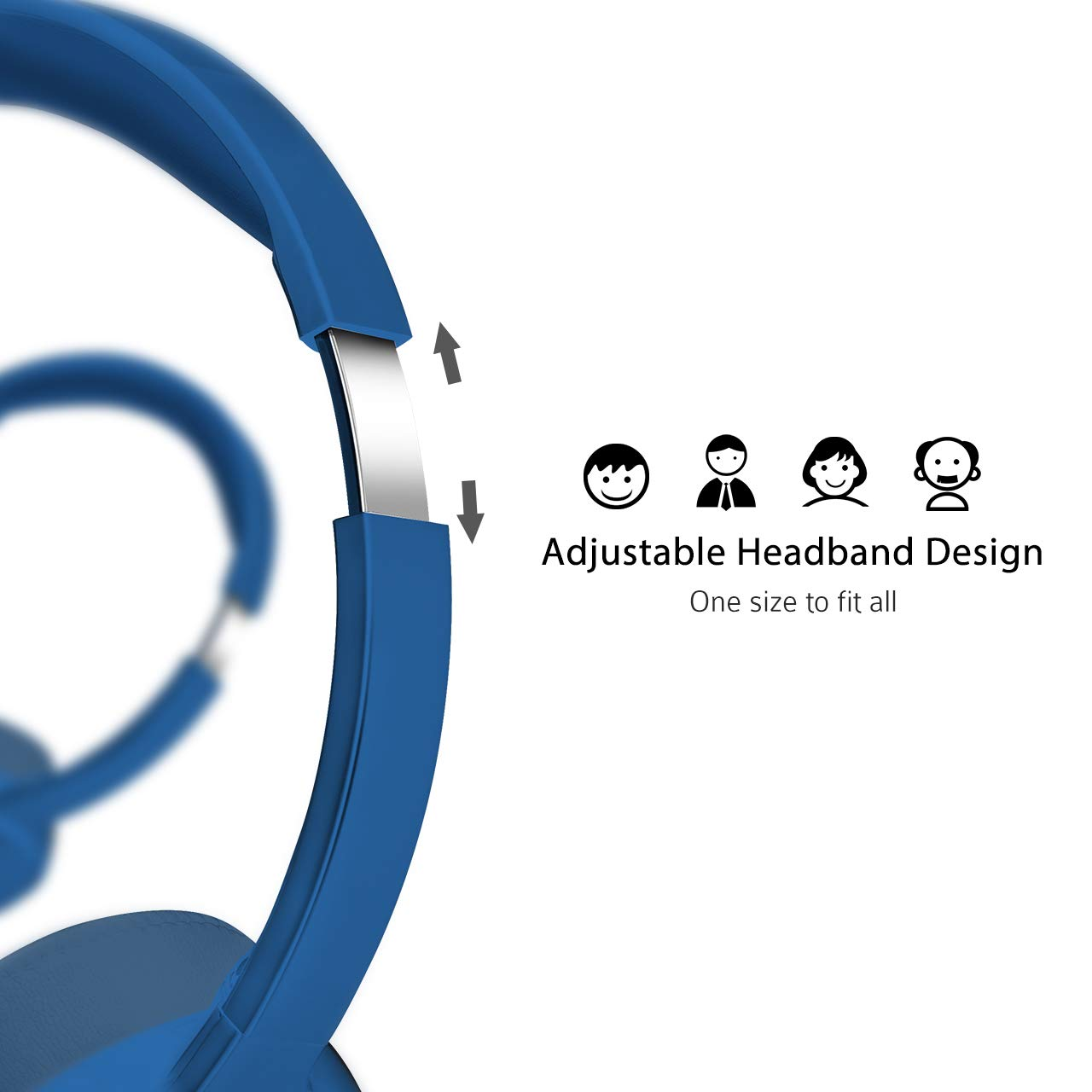 Blue Multi-Use USB Headset /& 3.5mm Chat Headset Office Headset Gaming Headset VOIP Headset Skype Headset In-line Control Mac PC Moblie Phone Mpow PC Headset Built-in Noise Reduction Sound Card