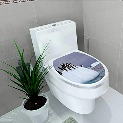 Amazon.com: Printsonne Toilet Seat Wall Stickers Paper Penguins ...