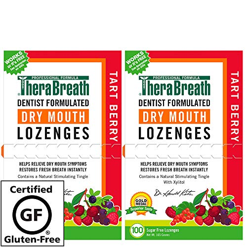 200 Lozenges - TheraBreath Dry Mouth Lozenges, Tart Berry Flavor, 200 Lozenges