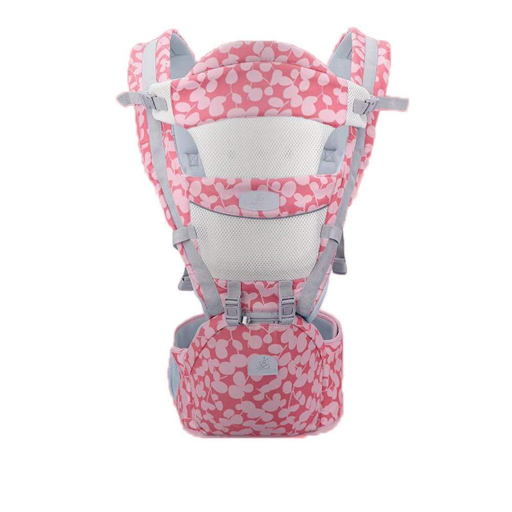 Atmungsaktive Multifunktions-Babytrage bis zu 3 Jahren (10-50 lbs), ergonomische Tragepositionen, Rouge Powder