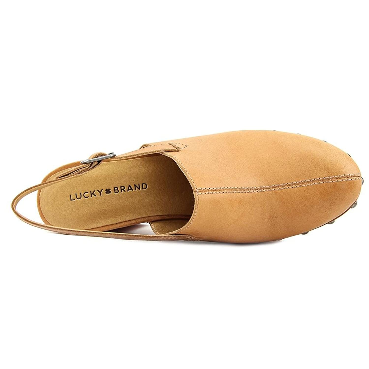 Lucky Brand Vevina Women Round Toe Leather Mules