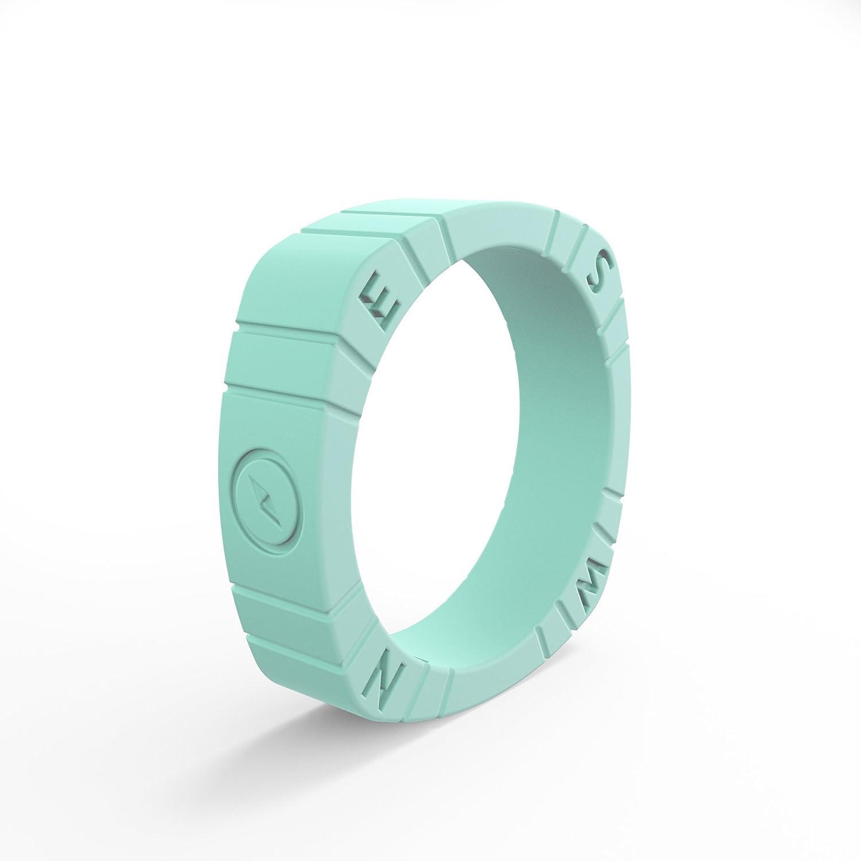 流行に  QALO-レディースシリコンリング(品質は -、陸上競技、愛とアウトドア)は7-18のサイズを B0725BDV57 - Aqua Foxfire Foxfire Compass - Silicone Ring 5 5|Aqua Foxfire Compass - Silicone Ring, イワキボード:e5e067db --- arianechie.dominiotemporario.com