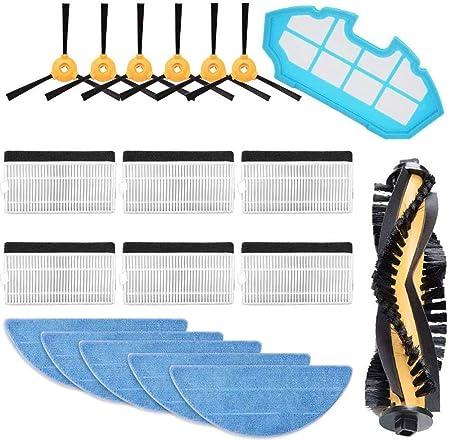 Pack de Accesorios de Recambio para Robots aspiradora Conga con cepillos Laterales MIRTUX Kit de 4 cepillos Laterales para Conga 1290 y 1390