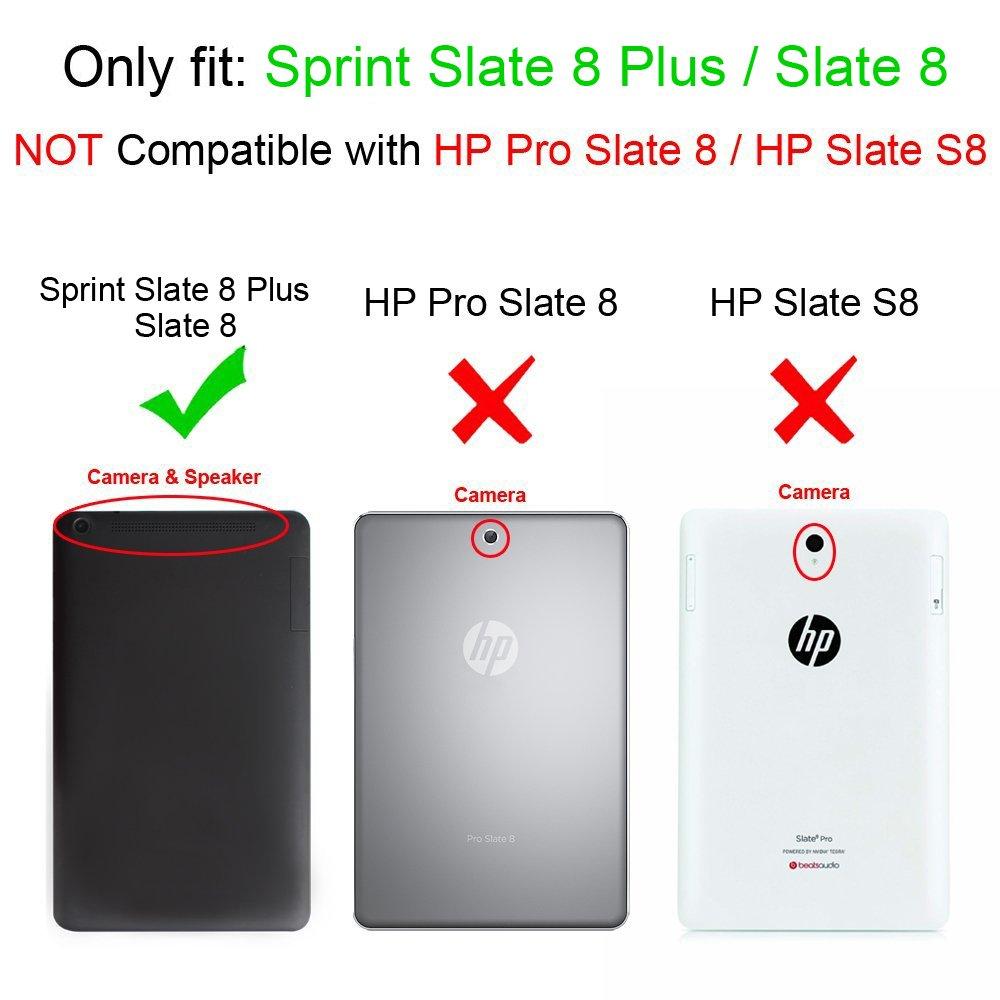 amazon com sprint slate 8 plus sprint slate 8 tablet case