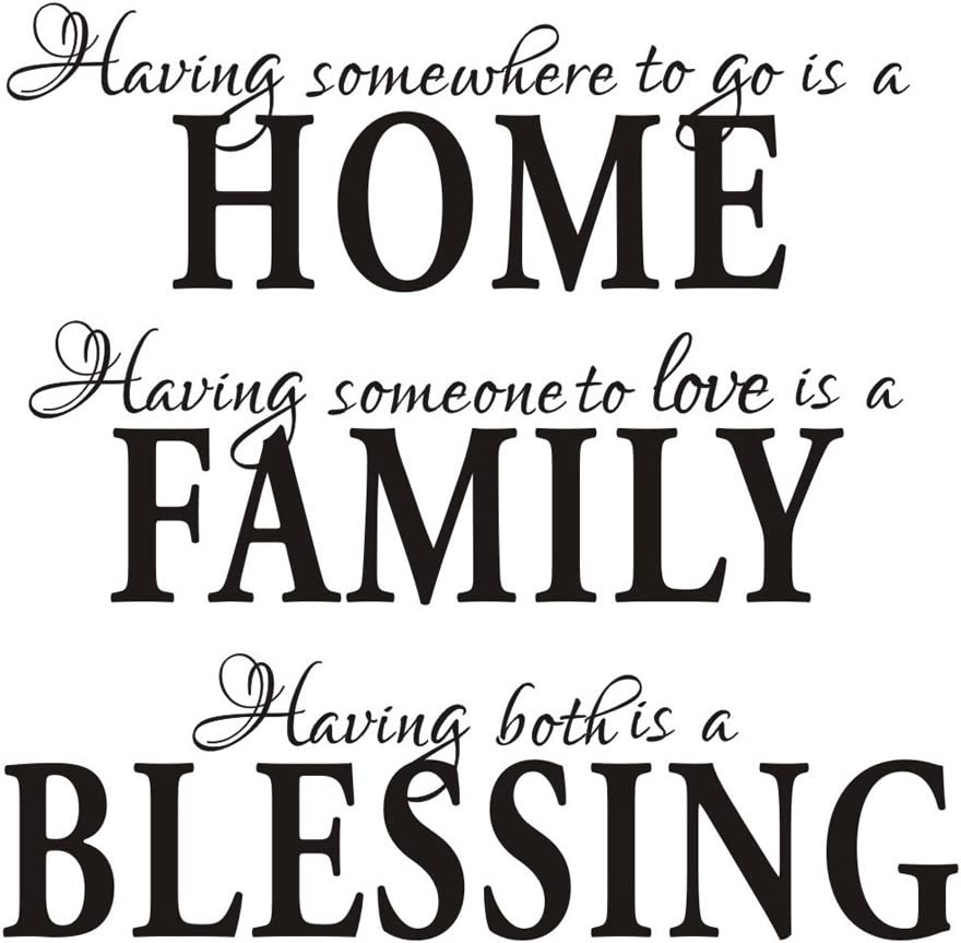 Having Somewhere to Go is a Home Family Blessing Vinyl Wall Decal Quotes Wall Art Inspirational Wall Sticker for Home Decor