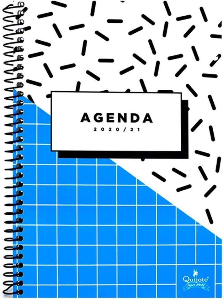 etc Agenda Semanal Quijote Paper World Pack 6 Agendas Escolares el Instituto la Universidad Espiral Flexible Tama/ño A6,P/ágina por D/ía+Fin de semana para la Escuela