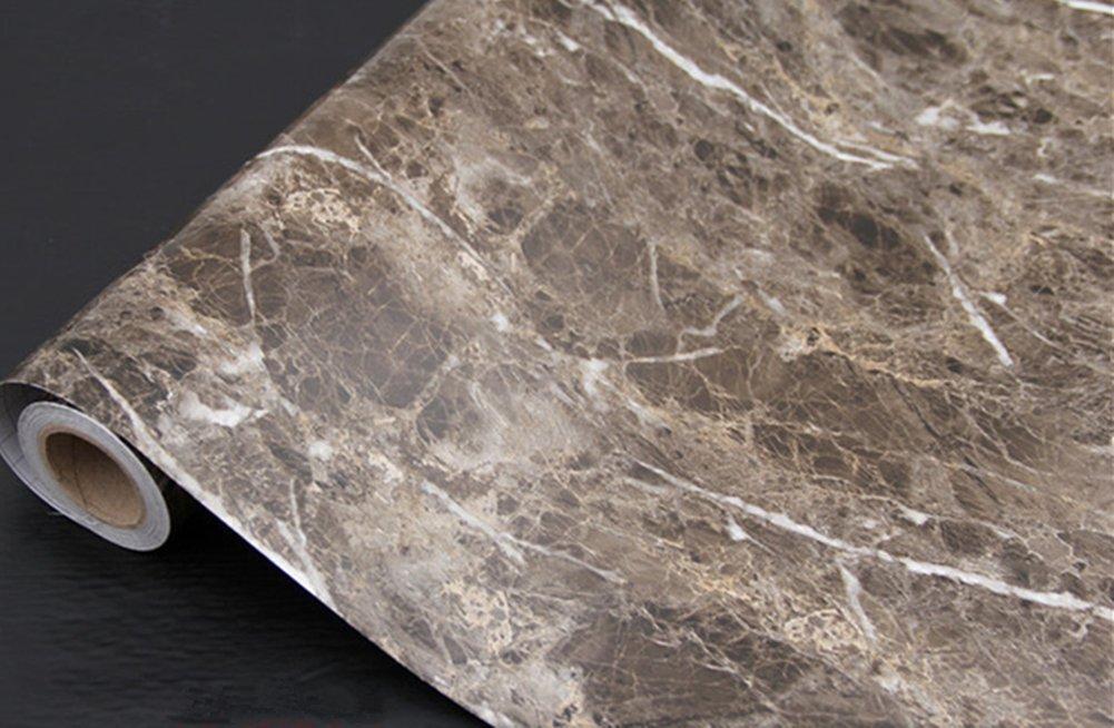 Dark Brown Granite Look Marble Gloss Film Vinyl Self