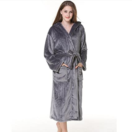 Bathrobe Ladies Towelling Bath Robe 100% Cotton Hooded Deep Patch Pockets  Bathrobe Dressing Gown Bath 359122407