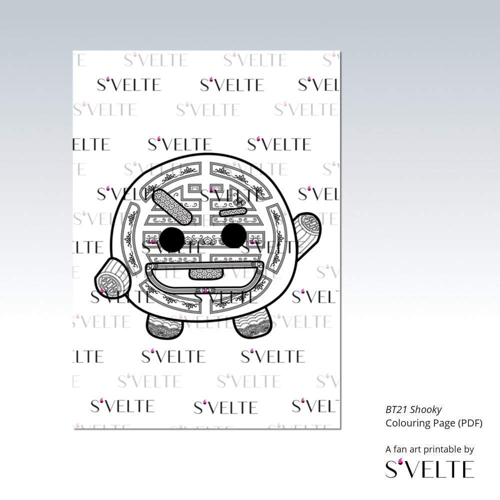 bt21 coloring pages Amazon.com: BT21 Shooky by BTS Suga Yoongi: Printable colouring  bt21 coloring pages