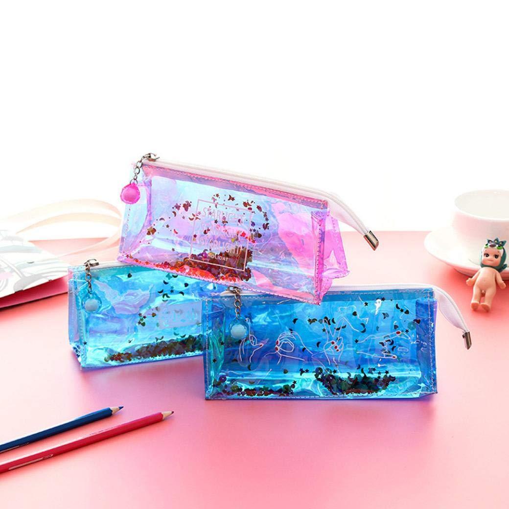 Amazon.com: KFSO - Estuche transparente para lápices, diseño ...