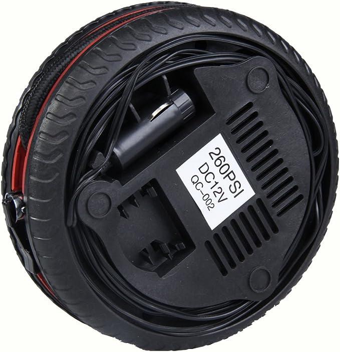 Nrpfell Tire Volt 260 Automatique Auto Portatif /électrique 12V De Compresseur De Compresseur De Pompe /à Air De Gonfleur