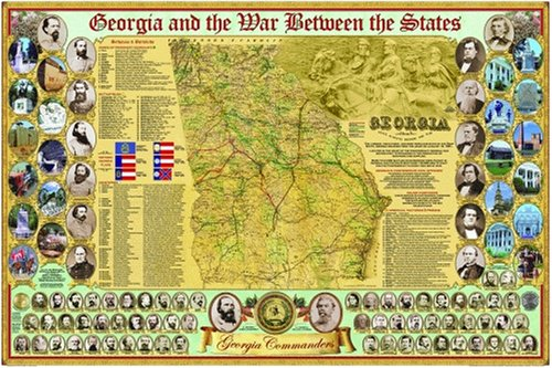 Georgia and the War Between the States Poster (Civil War State Map Posters)