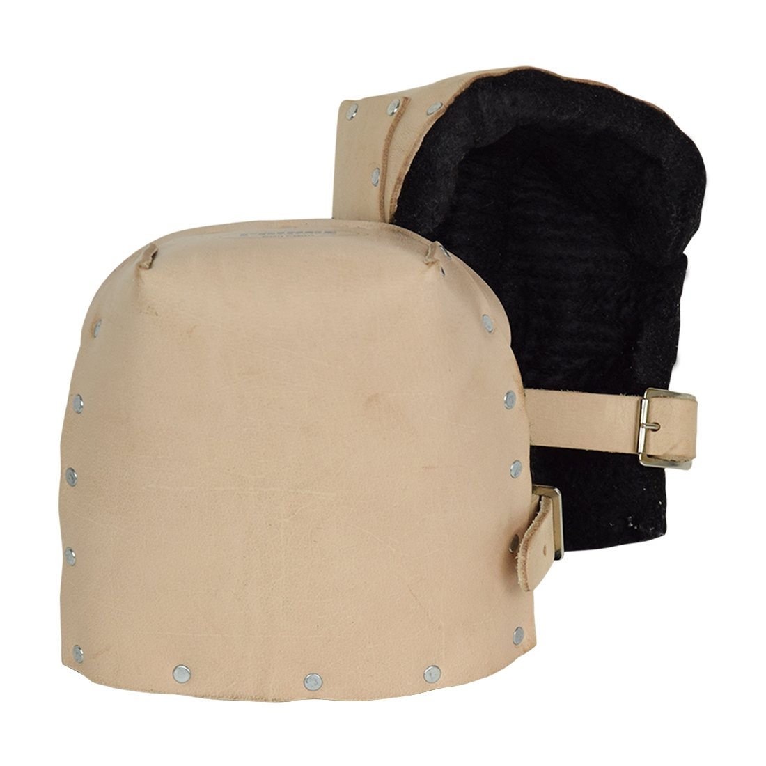 Prince P-309B Heavy Duty Top Grain Leather Kneepads with Thick Felt Lining for Construction