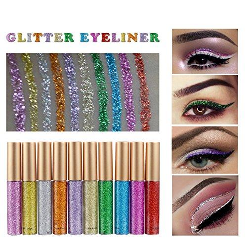 Shimmer Eye Shadows Liners,ROPALIA 10 Pcs Waterproof Natural Eyes Makeup