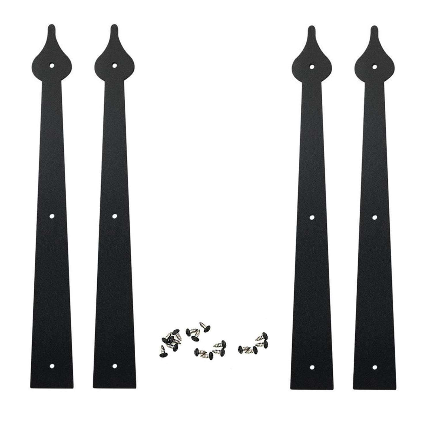 Handles ATK Carriage Spear House Garage Door Decorative Hardware Set