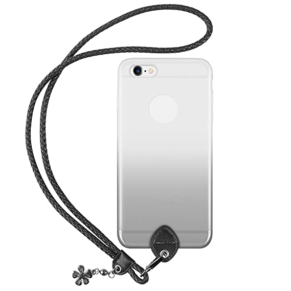 wholesale dealer 61f9f 12242 pzoz Case Compatible iPhone 6 Plus Lanyard Case, Silicone Case Cover Holder  Long Hanging Neck Wrist Strap Outdoors Travel Necklace Compatible iPhone 6  ...