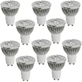 RC 10-Pack 4W GU10 LED Bulb Soft White Light 2700K 50 Watt Incandescent Equivalent, Ultra Bright Energy Saving Led Spotlight,LED Lamp for Recessed Lighting Track Lighting
