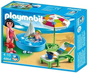 Playmobil 4864 wading pool 2010 toys games for Piscine playmobil