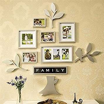 Yanqiao 11 Pcs/set Creative Family Tree Of Life Wall Display 8 Collage  Picture Frames Part 96