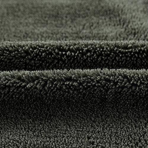 qiangdedianzishang Giacche Invernali AddensareCapispallaWarm UomoFodera in Pile Cappotti Nero e Blu L