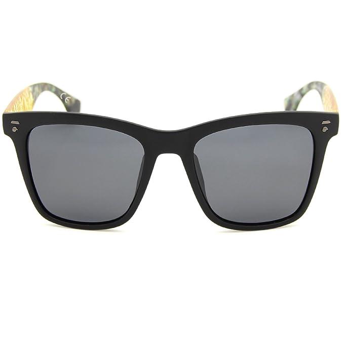 8695d20e81 AMZTM Cuadrado Montura Reflexivo Reflejado REVO Lentes Lujo Polarizadas  Caminante Wayfarer Gafas de sol Para Mujer