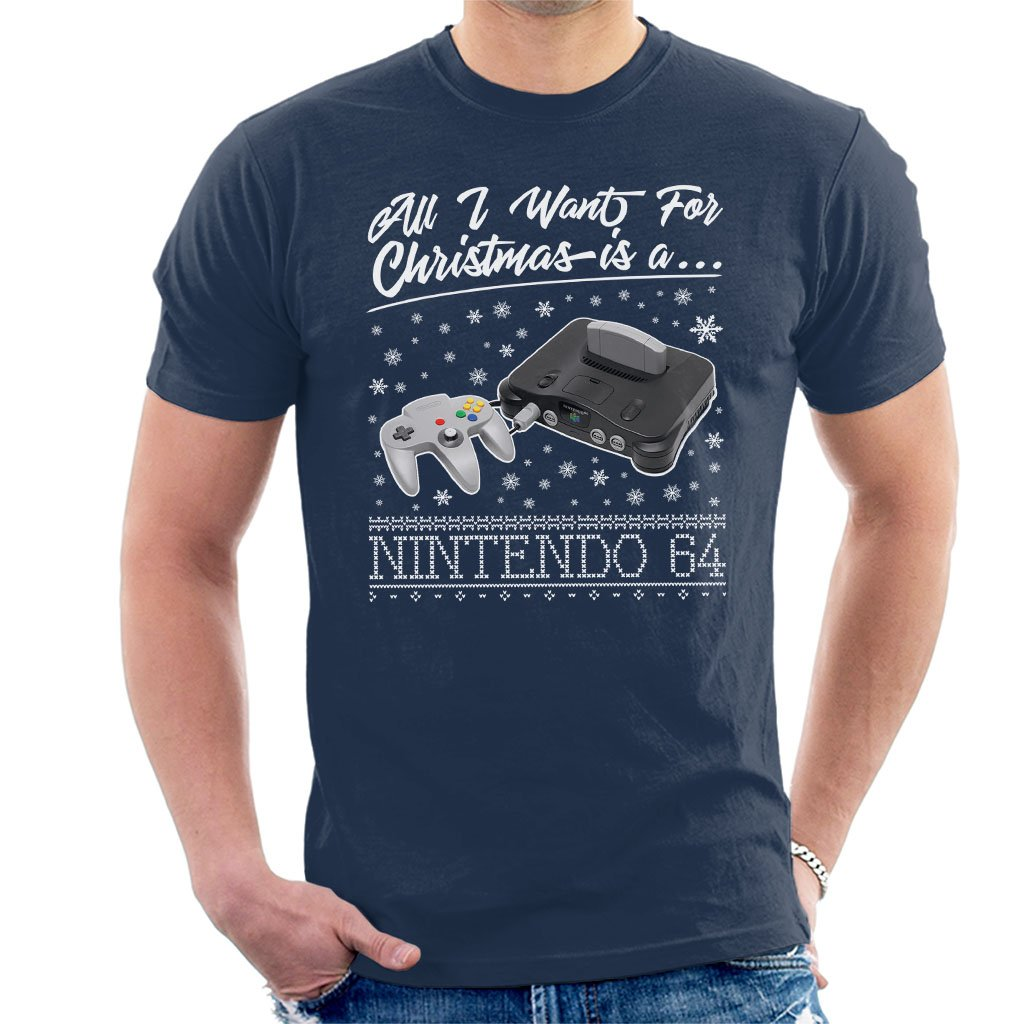 Amazon.com: Coto7 All I Want for Christmas is A Nintendo 64 Men\'s T ...