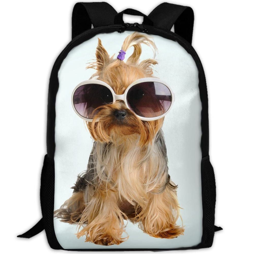 Szyymm Custome Dogs With Sunglasses Oxford Cloth Fashion Backpack