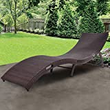 TANGKULA Folding Patio Rattan Chaise Lounge Chair Pool Outdoor Furniture (1) Review