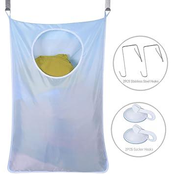 Uniui - Cesta de tela Oxford para colgar la ropa sucia en la puerta, color gris, ...