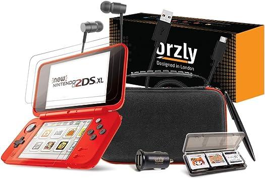 Orzly Accesorios 2DSXL, Pack New Nintendo 2DS XL [Paquete Incluye: Cargador de Coche/Cable USB/Rojo en Negro Edición Funda para Consola y más…] (Véase descripción para más información): Amazon.es: Electrónica