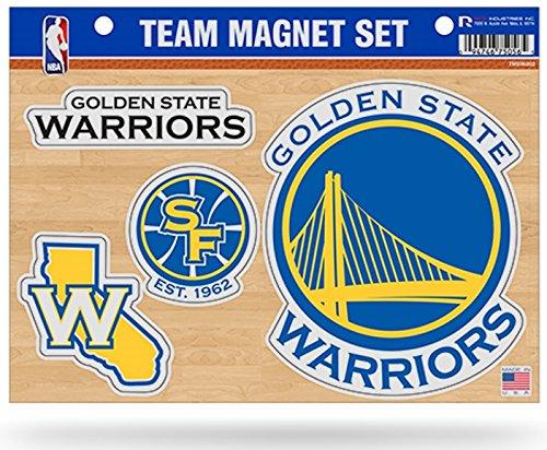 Rico NBA Golden State Warriors NBA Team Magnet Sheet, Yellow, 11