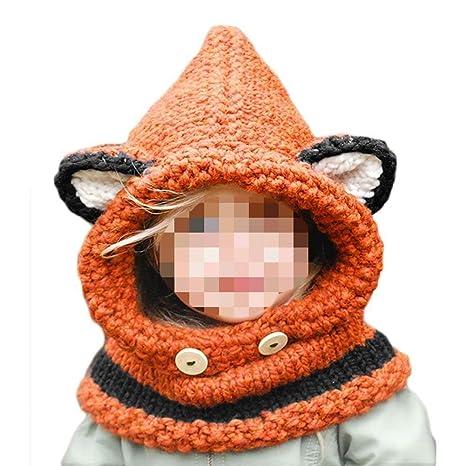SevenPanda Otoño Invierno Niño Niñas Niños Niños Acogedor Fox Unisex Lindo  Earflap Sombreros Gorras Niños Regalo 05b17ef198f