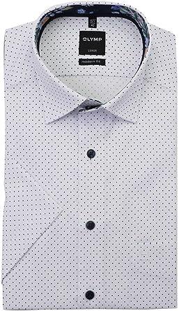 OLYMP Luxor Modern fit Camisa de media manga con bolsillo en ...