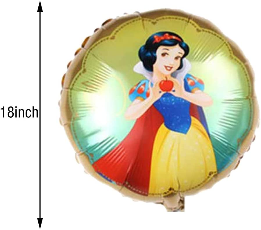 5PCS Snow White Foil Ballons Party Supplier for Kids Party Birthday Decorations