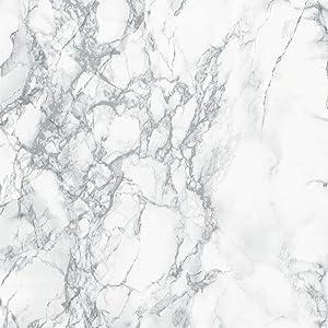 "d-c-fix 346-8306-4PK Decorative Self-Adhesive Film, Grey Marble, 26"" x 78"" Roll, 4-Pack"