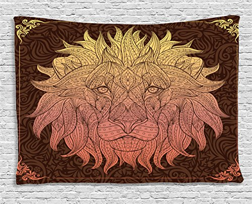 Ornate Lion Head - cool lion wall decor - lion wall decorations