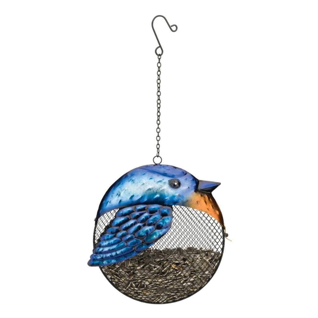 Regal Art & Gift Fat Bird 9 inches x 4 inches x 17.25 inches Metal Blue Jay Seed Feeder - Feeder Accessories
