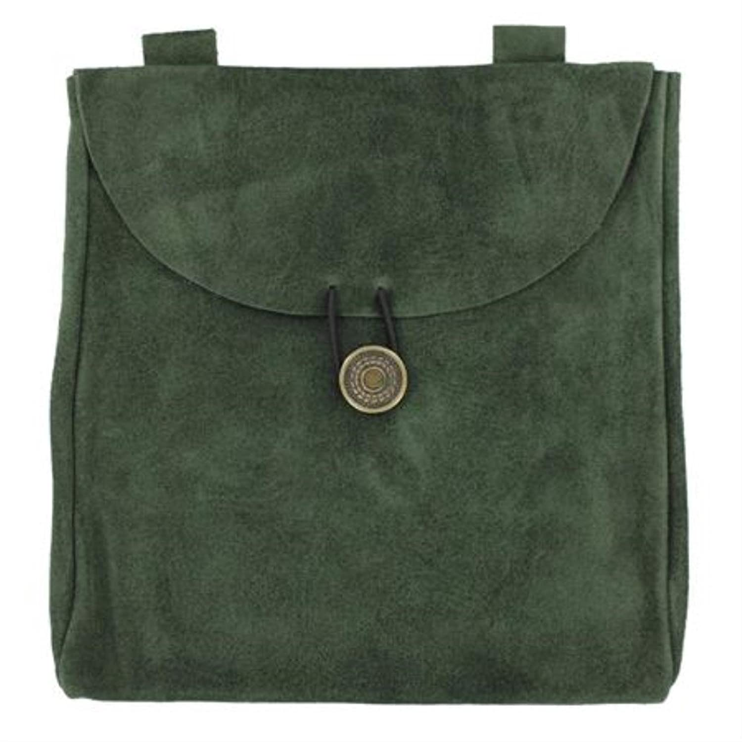 Large Medieval Evergreen Suede Belt Pouch
