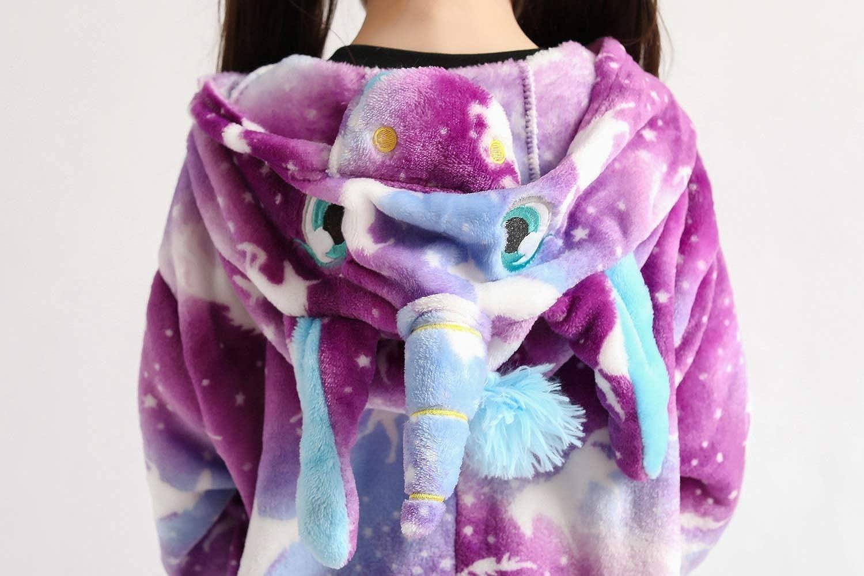 Animal Onesie Unicorn Pajamas for Kids Unisex Cartoon Outfit,One Piece Cosplay Sleepwear Jumpsuit