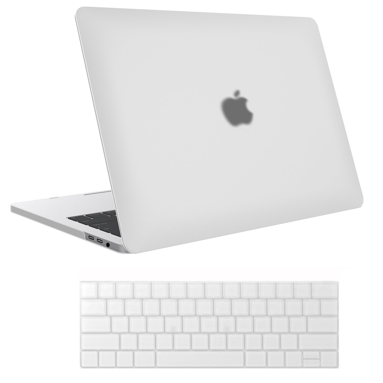 MacBook Pro 15 Case 2018 2017 2016 Release A1990/A1707, ProCase Hard Case Shell Cover and Keyboard Cover for Apple MacBook Pro 15'' (2018/2017/2016) with Touch Bar and Touch ID -Frost Clear
