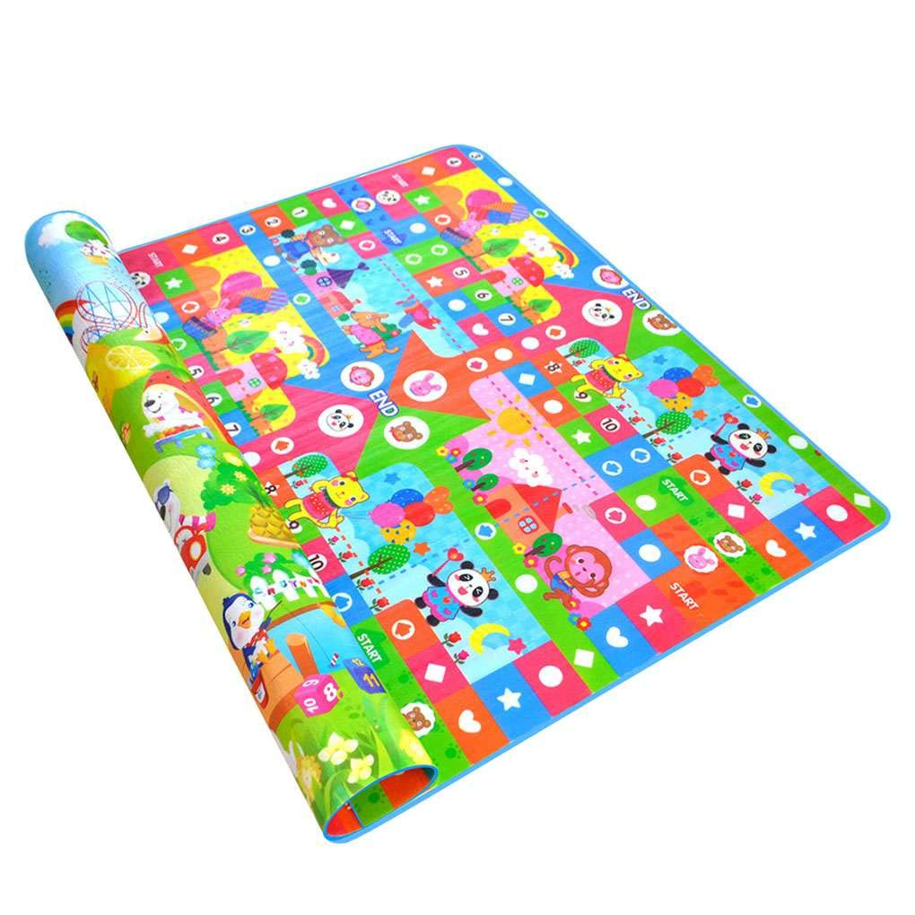 Babysbreath17 Cartoon Animal 2x1.8m Kid Crawling Tappeto Neonato Infantile Gioco Ragazza Coperta Nursery Camera Carpet Bambino Gioca Mat 4 2 * 1.8m