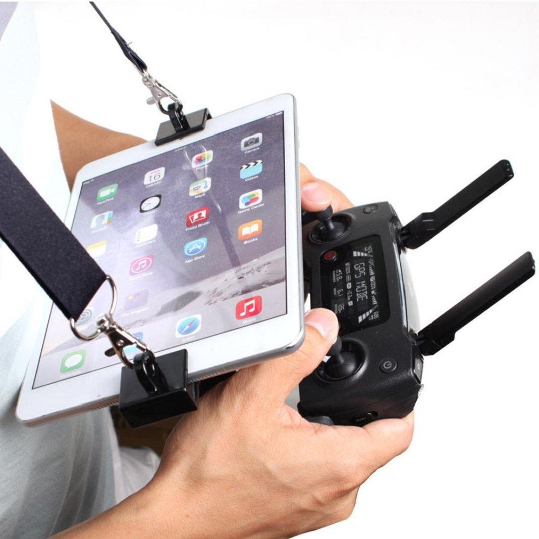 Sisit 7.9 -9.7 '' Support de Tablette Mobile Support de Support Lanyard RC pour DJI Mavic Pro / iPad (Noir)