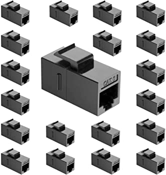 20-Pack Ushanlin Cat6 Keystone RJ45 Female to Female Ethernet Couplers