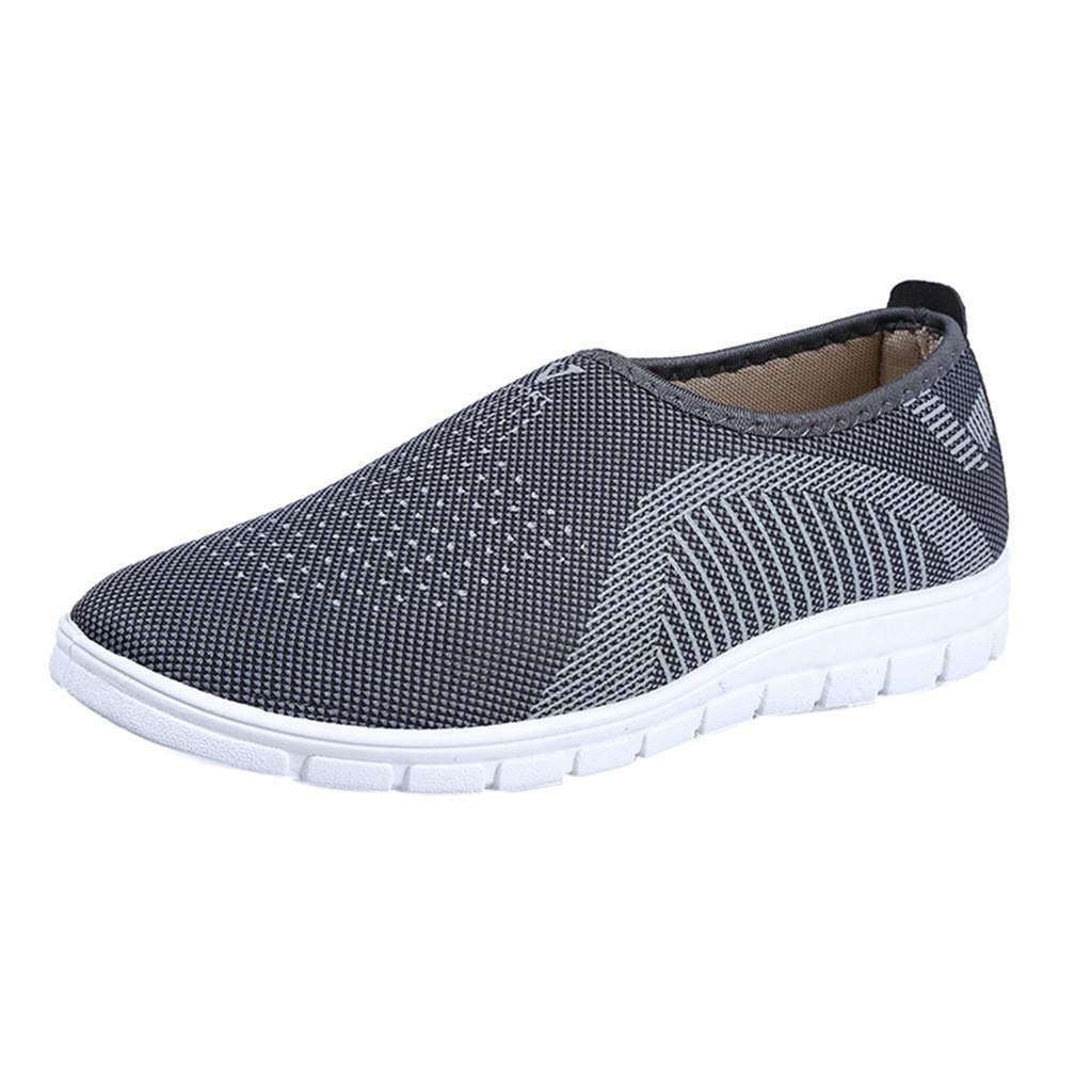 Men's Spring Casual Shoes,CSSD Gentlemen's Lightweight Sneakers Wedge Air Mesh Running Shoes Stylish Lazy Shoes (9, Gray)