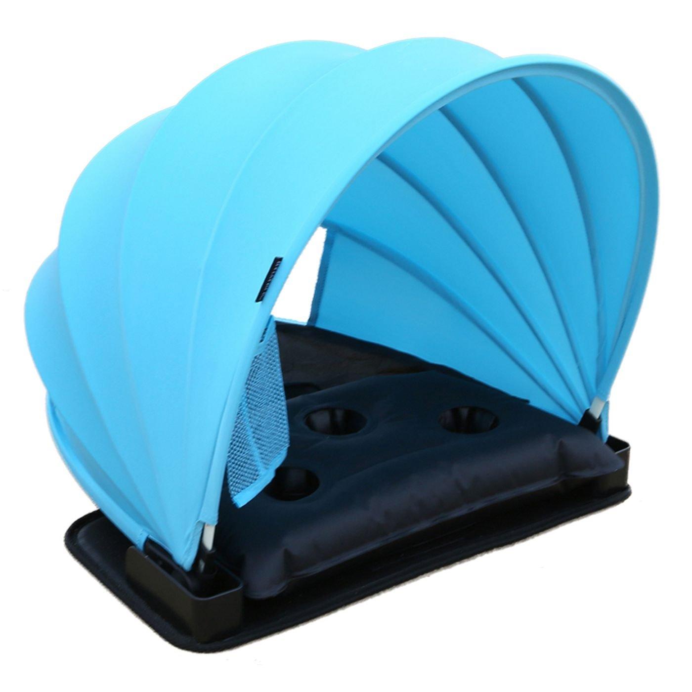 Shelter with Carry Case Shelter with Carry Case Blue Mat AirGoods HAIYANLE Pop Up Portable Adjustable Beach Sun Shade Canopy Instant Outdoors Beach Tent