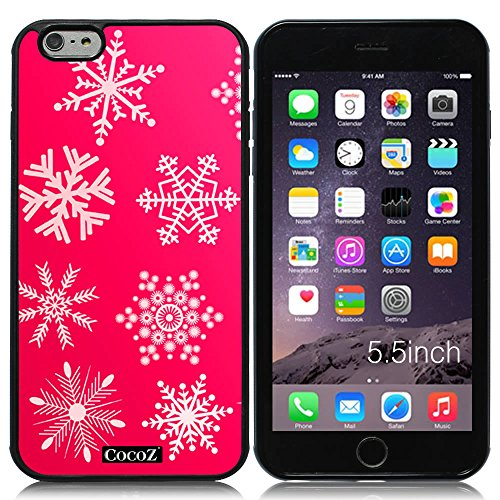 New Apple iPhone 6 s Plus 5.5-inch CocoZ® Case Beautiful Christmas Snow TUP Material Case (Hot Pink&Black TPU Snowflake - Bike Qbp Parts