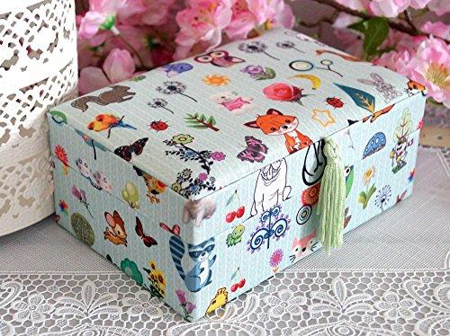 Schmuckkästchen Schmuckkasten Schmuckschatulle Schmuck Mädchen Kinder Tiere türkis grün blau Eule bunt Fuchs Prinzessin