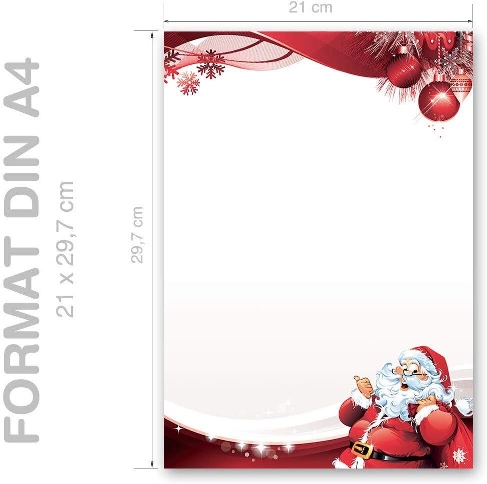 Letter to Santa Claus Christmas St Nicholas 100 Sheets DIN A4 Motif Letter Paper Paper-Media